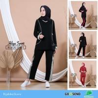 Kaos baju olahraga senam muslim muslimah Hilya