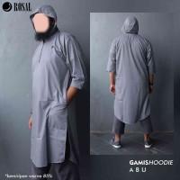 Gamis Hoodie Rompi Sholat kaos kurta jubah koko baju muslim pria