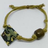 Gelang Tali Batu Hijau (Army Pattern)-Kbuck