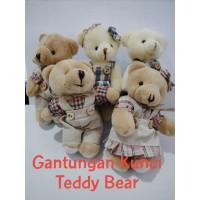 Gantungan Kunci Tas Teddy Bear Keychain Souvenir Boneka Beruang Lucu