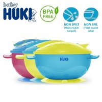 Huki BOWL SECTION with Spoon mangkuk sendok anti slip