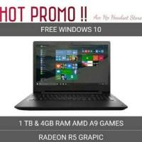 Laptop Lenovo Ideapad 110 14AST RAM 4GB/ HDD 1TB/ AMD A9/ REDEON R5 -