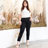 Legging Jeans Jumbo Big Size Premium SYAKBOS Jegging Clara Black Soft