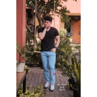 Slim Fit Jeans DS DENIM Bio Wash Celana Pria Stretch Soft Jeans Jeans
