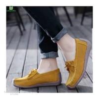Sepatu Cewek Sepatu Wanita Flatshoes rajut bahan suede SP233 - Fanta, 37