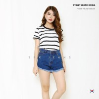 Short Jeans Hotpants Highwaist Jeans HW SBK 5201 - 8201 Jeans