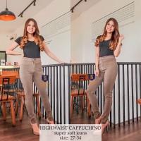 High Waist Jeans Premium Chino SYAKBOS Highwaist Soft Jeans HW Jeans