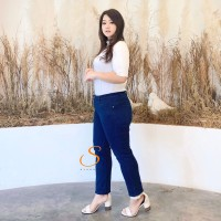 Skinny Jeans Jumbo Big Size Premium Soft Jeans SYAKBOS Navy Jeans