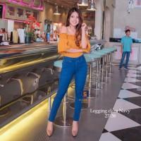 Legging Jeans Jumbo Big Size Premium SYAKBOS Jegging Clara Navy Soft J