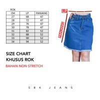 Rok Jeans Rok Jeans Span Wanita Skirt HW SBK 5500 - 6600 Jeans