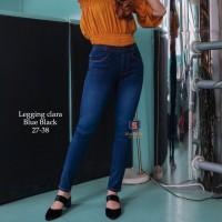 Legging Jeans Big Size Premium SYAKBOS Jegging Clara Blue Black Soft J