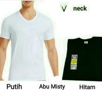 TRENDY Kaos Dalam Pria Tshirt oblong V neck BARU