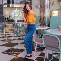 Legging Jeans Big Size Premium SYAKBOS Jegging Clara Spray Soft Jeans