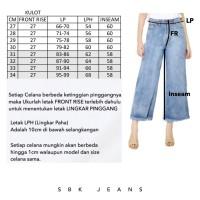 Kulot Celana HW Highwaist Kulot Unfinished Jeans SBK 7202 - 7302 Celan