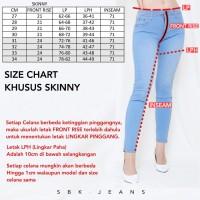 Skinny Jeans SALE - SBK 22028 - 44028 Ripped Bordir Jeans Wanita Jeans