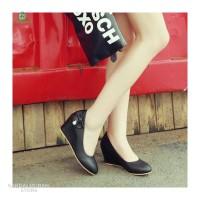 Sepatu Wanita Wedges pantofel mutiara Bahan Sintetis 5cm SP71