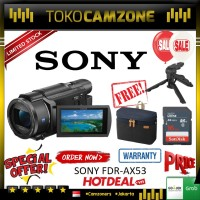 New !! Sony FDRAX53 AX53 4K Ultra HD Handycam Camcorder Special Paket