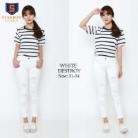 Ripped Jeans Premium White Destroy SYAKBOS Soft Jeans Jeans