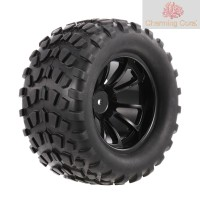 【*STOCK】4PCS 1/10 Tyre Nail Block Tread Pattern 10 Spokes Rim