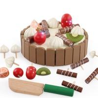 Mainan Masak-masakan Potong Kue Bahan Kayu untuk Anak