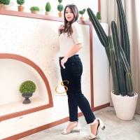 Skinny Jeans Jumbo Big Size Premium Soft Jeans SYAKBOS Black Jeans