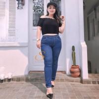 Legging Jeans Jumbo Big Size Premium SYAKBOS Jegging Clara Spray Soft