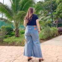 Kulot Premium Blue Acid SYAKBOS Big Size Kulot Jeans Celana