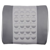 Grey Lumbar Posture Support Electrical Massage Cushion Pillow 12V