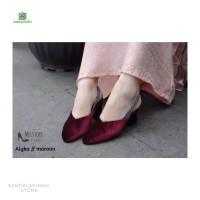 Sepatu Wanita Heels Tahu Lancip bahan Suede 5cm SP691
