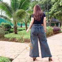 Kulot Premium Black Acid SYAKBOS Big Size Kulot Jeans Celana