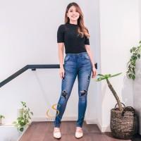 Skinny Jeans SALE - SYAKBOS Premium Jegging Joanna Ripped Soft Jeans W