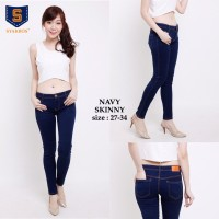 Skinny Jeans Premium Navy SYAKBOS Skinny Soft Jeans Jeans