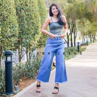 Boyfriend Jeans Celana HW Highwaist Kulot Unfinished Jeans SBK 7200 -