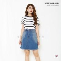 Rok Jeans Rok Jeans Span Wanita Skirt HW SBK 5501 - 6601 Jeans