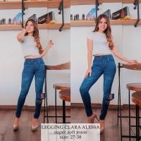 Legging Jeans Big Size Premium SYAKBOS Jegging Clara Alessa Soft Jeans