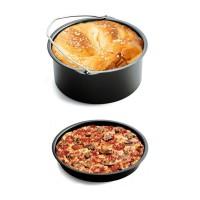 5Pcs Panci Roti+Pizza+Tatakan Silikon+Rak Sate+Holder Metal untuk