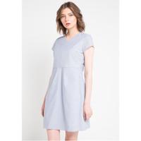 Dress Wanita EDITION ED54NAVY V-Neck Stripe