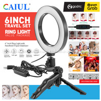 Ring Light 16CM with Mini Grip Tripod Lampu Beauty MultiColor Vlogger