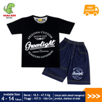 Skabe Baju Anak LakiLaki Greenlight Setelan Jeans Usia 4-14 Tahun 3363