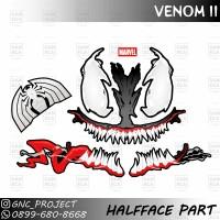 Sticker Decal Helm Venom II for Universal Helm Halfface