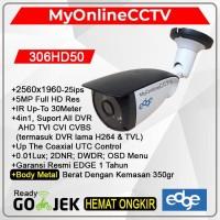 Paket Kamera CCTV Outdoor Edge UHD 4K 5MP 4in1 Setara Hikvision Avtech