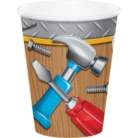 Gelas Kertas 9oz Tema Handyman - Perlengkapan Pesta Ulang Tahun