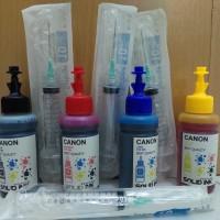 Paket Tinta Canon Refill Solid Ink + Suntikan