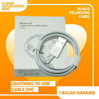 kabel cable USB iphone original100% - Putih