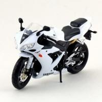 Jual Diecast Miniatur Motor Yamaha YZF R1 skala 1/12 Maisto Putih