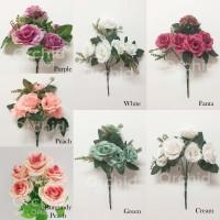 Bunga Artificial / Palsu Mawar ROSE SIMA X5