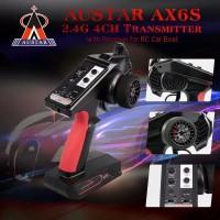 Austar ax6s Transmitter Radio Remote Control 2.4G 4CH dengan Receiver