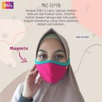 Masker kaos hijab 2 layer isi 10 pc - limited ori nibras