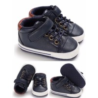 Sepatu Bayi PreWalker Leather Snekers - Navy