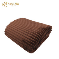 NINA MG STRIPE BLANKET BROWN
